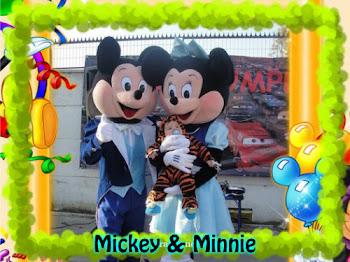 Visita de MINNIE Y MICKEY o arriendo solo de los trajes