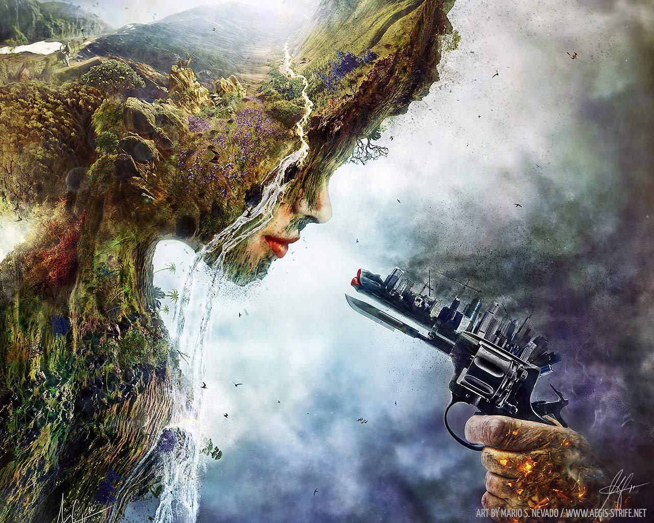 Nature Vs Industry Art