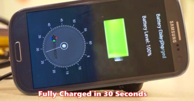StoreDot charger can charge your smartphone battery in 30 seconds
