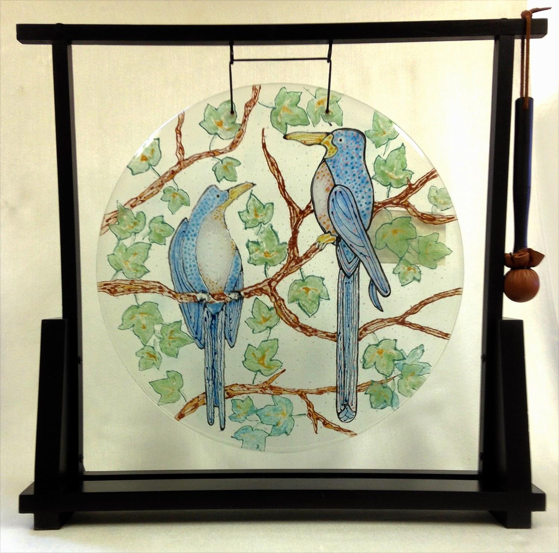 Harbinger of Spring by Maryanne Meken-Silvestri, Fused Glass