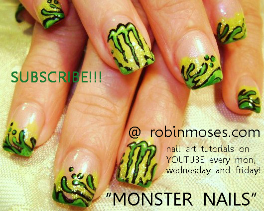 Monster energy drink nail art design pretty in pink nail art monster energy drink nail art design pretty in pink nail art pink flower nail spring nails spring critters pink floral nail art green and yellow prinsesfo Images