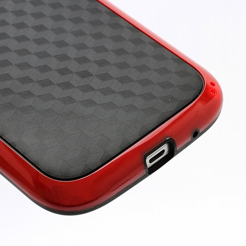 3D Cube TPU Case for Samsung Galaxy Grand I9080 Grand Duos I9082 - Black / Red