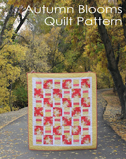 Autumn Blooms quilt pattern from A Bright Corner