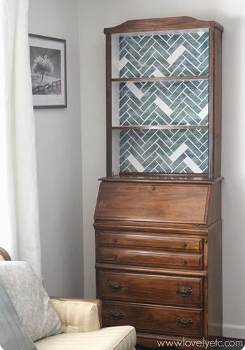 Herringbone Bookcase