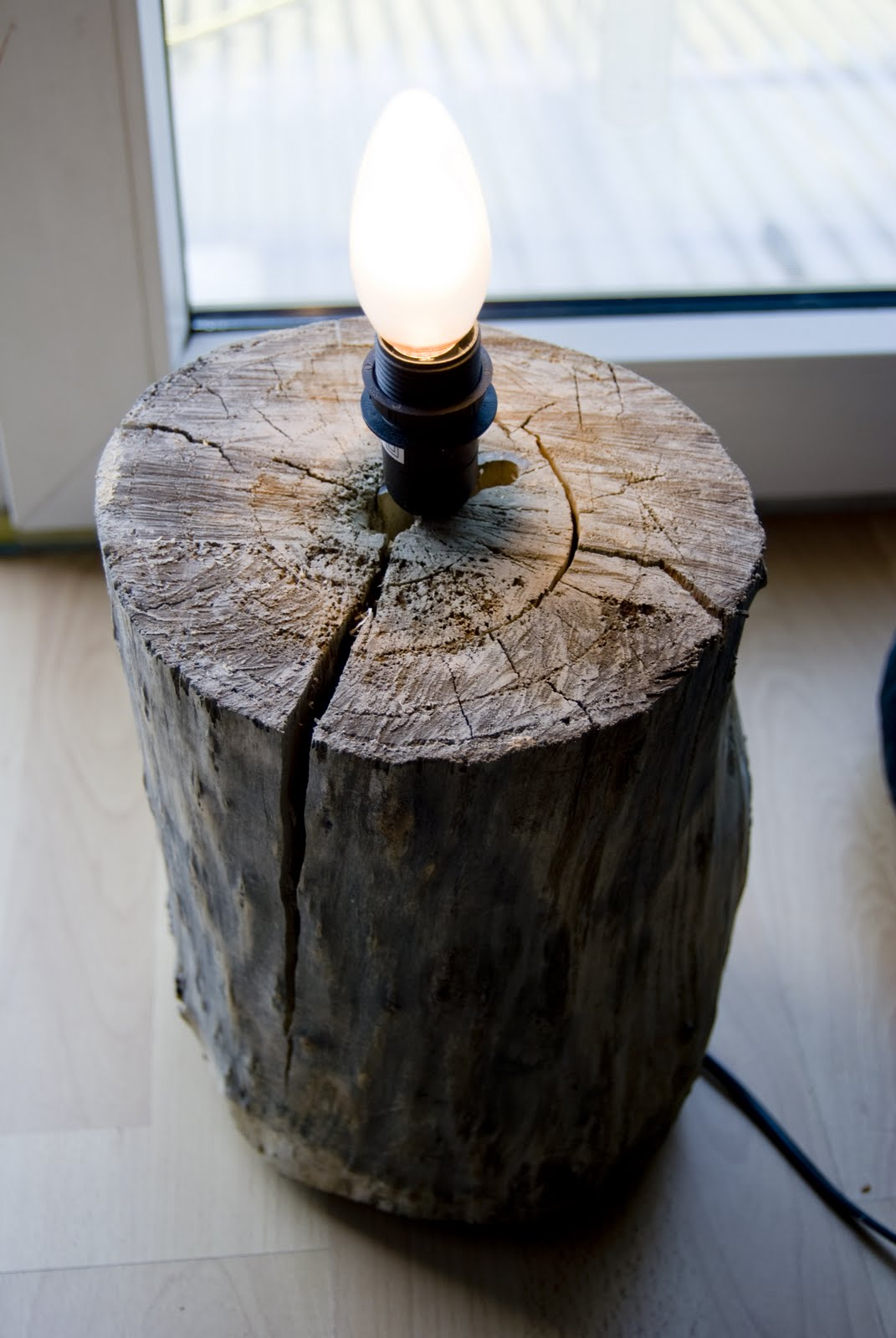 Diy Lamp From A Tree Stump