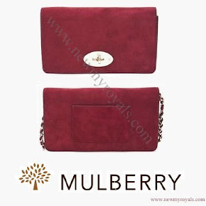 Kate Middleton wore Mulberry Clutch