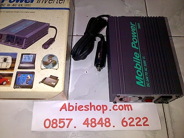 Inverter 300 Watt 24VDC ke 220VAC Mobile Power