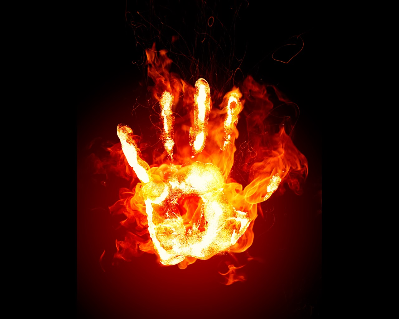 Fire hand wallpapers