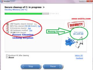 zeus-osiris.com Bersihkan file tidak penting dengan PrivaZer 1.4.0