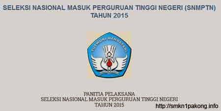 SNMPTN 2015 - SMKN 1 PAKONG
