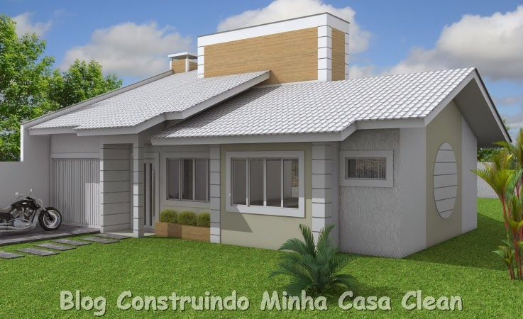 Construindo minha casa clean 20 fachadas de casas for Casa moderna baratas
