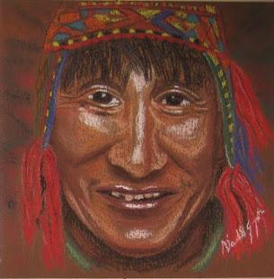 'Indio Peruano' (2008) Retrato de Giampietro Nardello, tomado de artmajeur.com