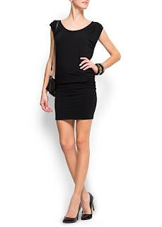 mango siyah mini elbise