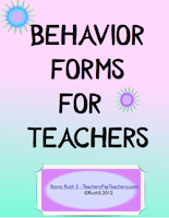 photo of Behavior Forms for Teachers Teacher Park