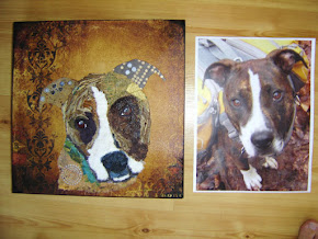 Chigirie Torn Paper Pet Portrait - Henry
