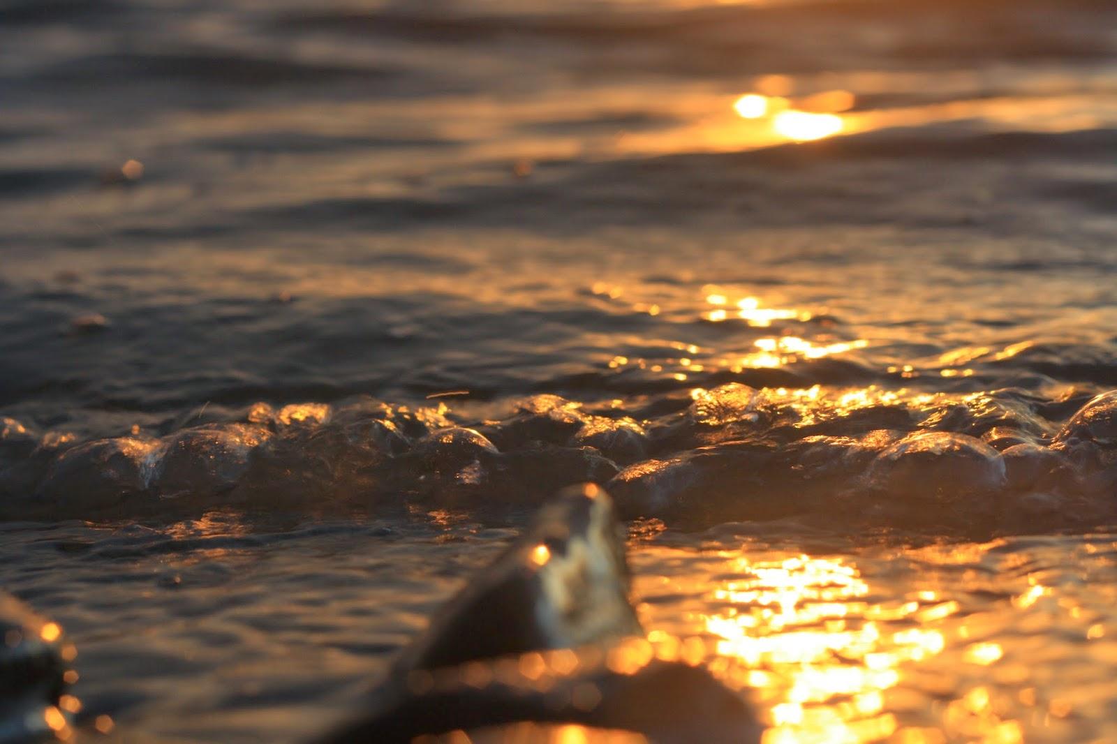 закат на реке Зея
