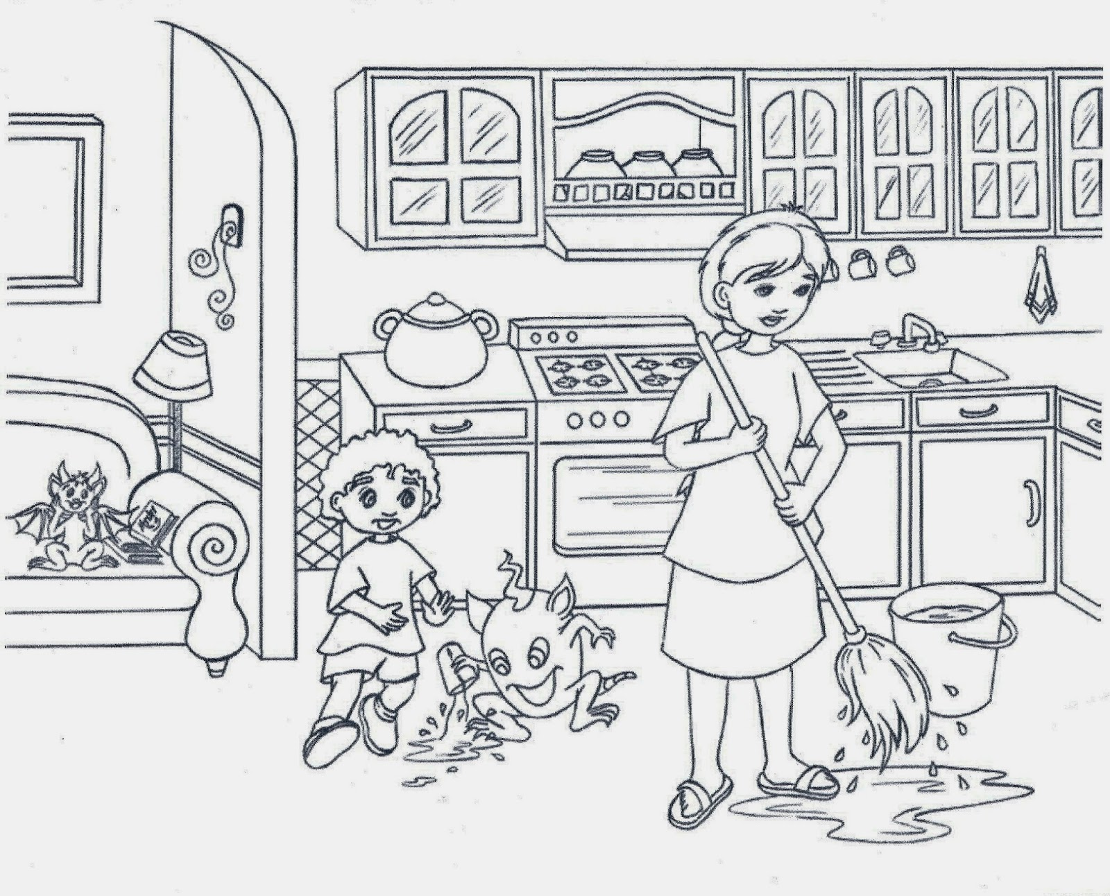 free coloring pages of kitchen collections