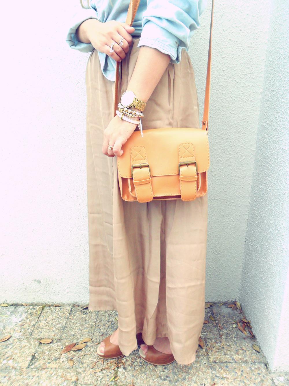 chambray shirt & maxi skirt