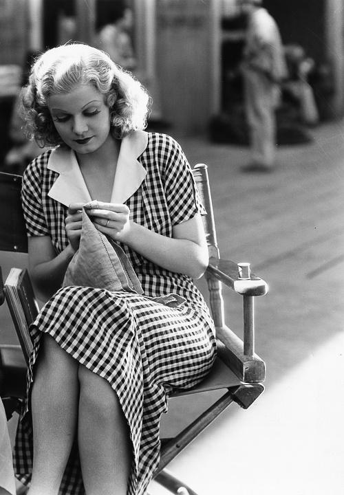 Jean Harlow gingham vintage