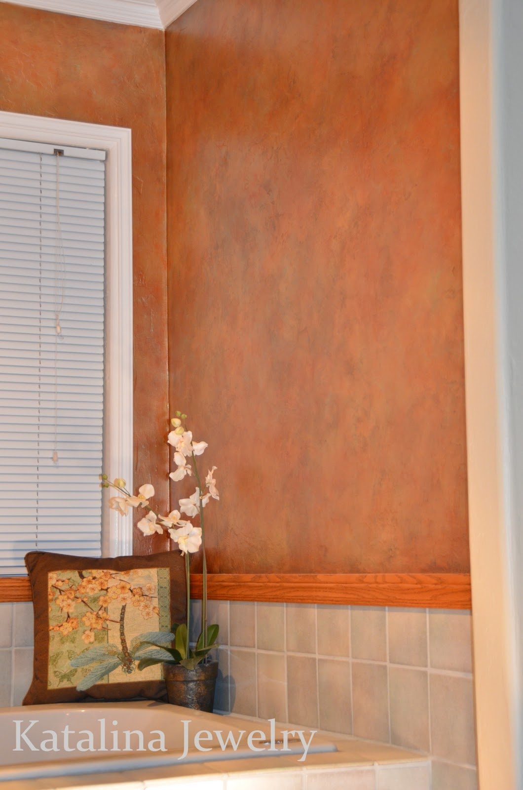 katalina jewelry aged copper wall treatment