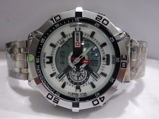 Jam Tangan Swiss Army Dual Time