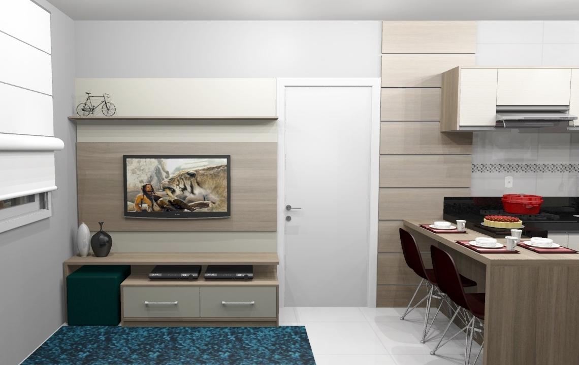Arquitetura E Conforto Num S Lugar  -> Divisor Sala E Cozinha