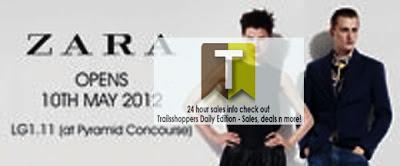 Zara Sunway Pyramid Opens today 10 MAy Malaysia
