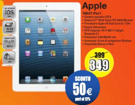 Sconto di 50 euro sul prezzo di listino fino a metà febbraio sul tablet Apple iPad 2