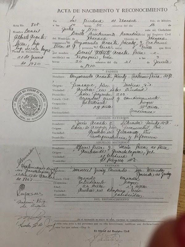 Asombroso Copia Del Certificado De Nacimiento Louisiana Composición ...