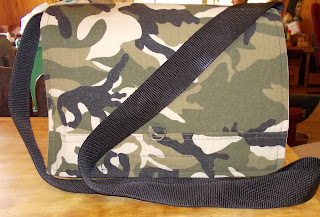 gaia messenger bag out of camo fabric