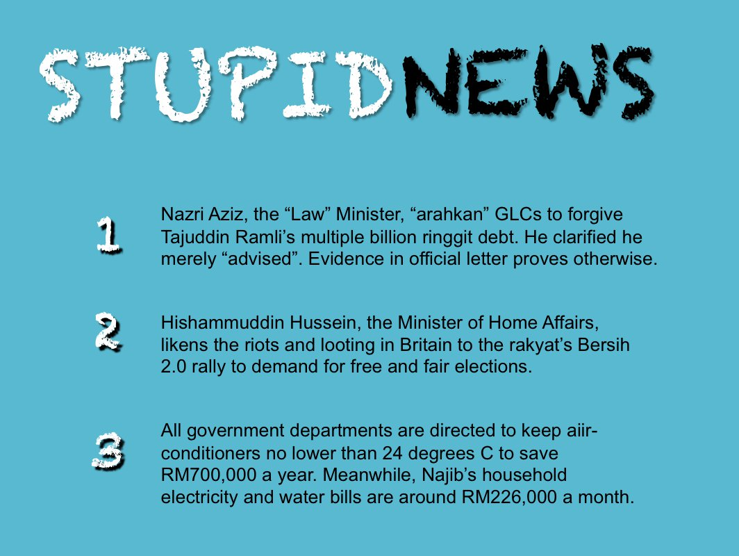 mi1: Stupid News from Stupid Malaysian Ministers
