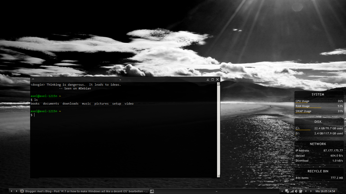 Windows10up.com Download Free bbLean + cygwin: Windows 7, #! Style | Axel's Blog