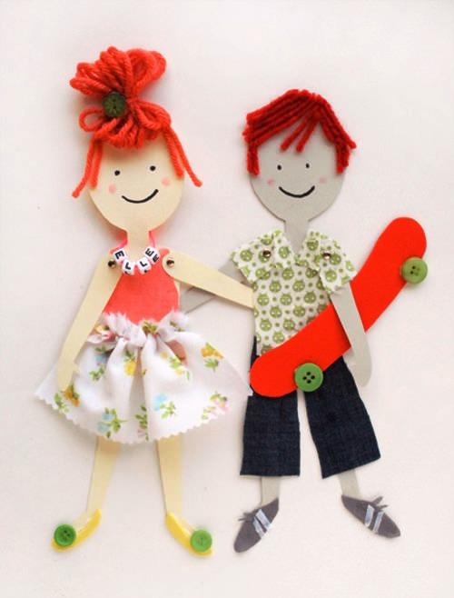 Куклы своими руками из картона