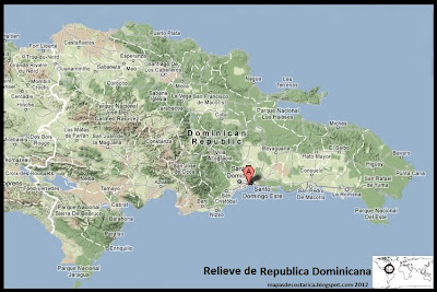 Mapa de Relieve de Republica Dominicana