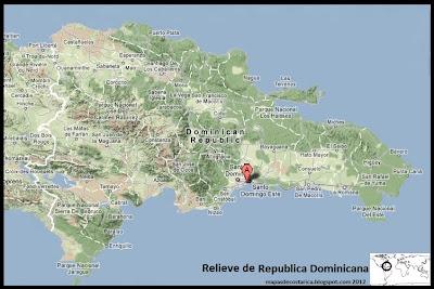 Mapa de Relieve de Republica Dominicana