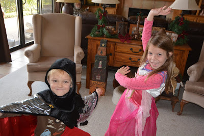 Grandchildren Dressing Up