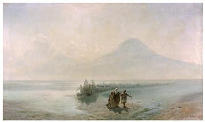 Baixada de Noé des d'Ararat (Ivan Aivazovskii - 1889)