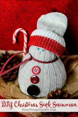 http://busybeingjennifer.com/2015/11/diy-christmas-sock-snowman/
