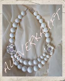 Koralle/Silber/Perlen