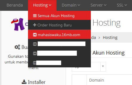 Cara Backup File Web dan Database MySql di Idhostinger