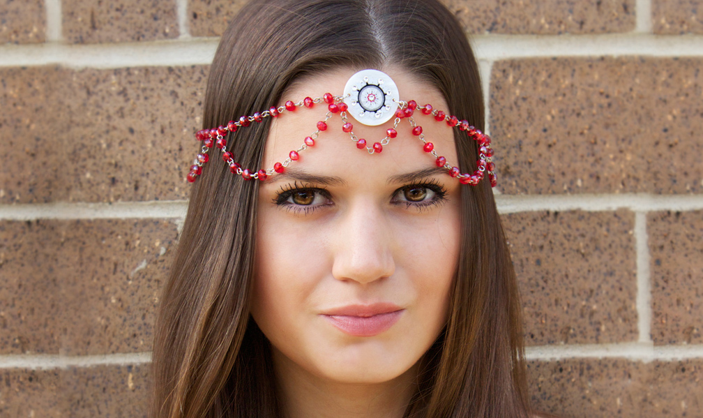 bohemian beaded headband tutorial for summer by Allison Beth Cooling