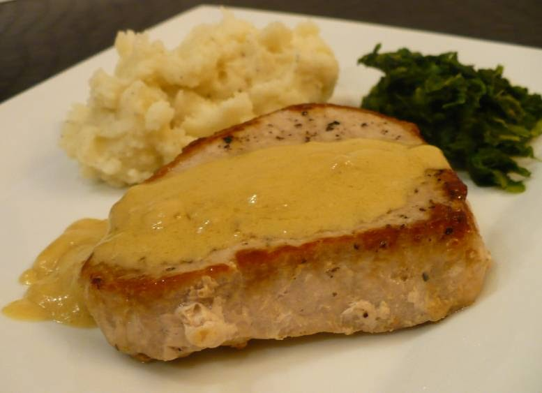 How Do You Cook.com: Pork Chops with Dijon-Cream Sauce