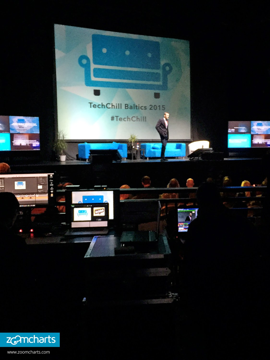 andrew hoag president of ferocia inc speaks about fundraising as part of his intriguing presentation at the techchill baltics 2015 tech startup