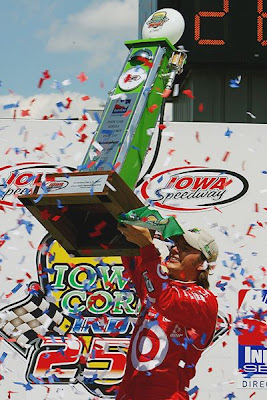 Dan Wheldon 2008 Iowa Corn Indy 250 Darrell Ingham/Getty Images