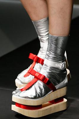 туфли на платформе + кожаный носок
