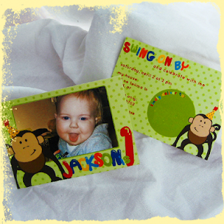 custom monkey children birthday invitation