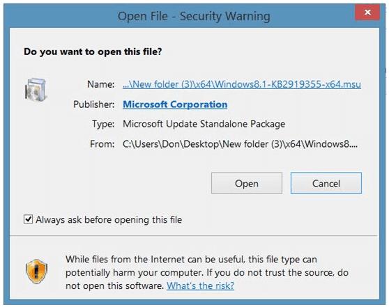 Hướng dẫn tải về và cài đặt bản cập nhật cho Windows 8.1