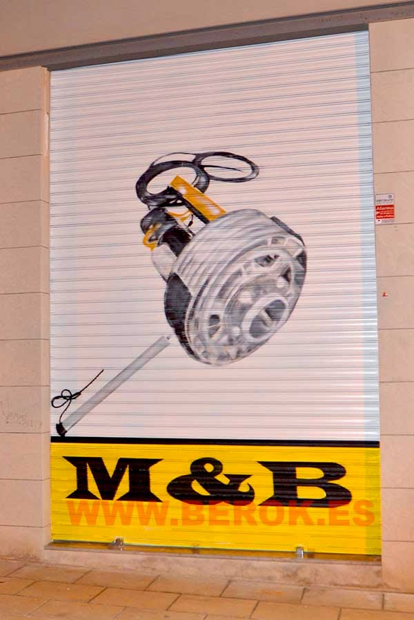 Graffiti motor de persiana