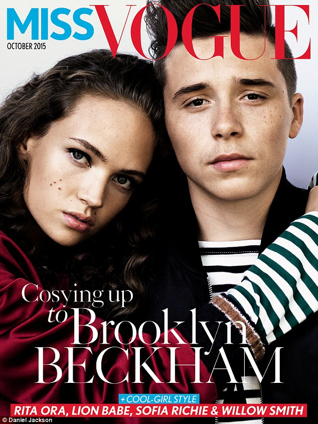 Brooklyn Beckham is in the spotlight for Miss Vogue's October Cover