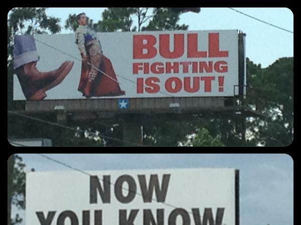 Milton's most peculiar billboards